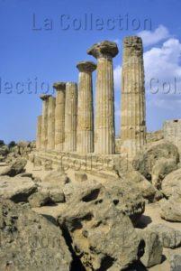 Art Grec. Sicile. Agrigente. Vallée Des Temples. Temple D'Heraklès. Vers 510 Avt JC. Architecture.