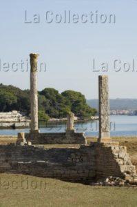 Art Romain. Croatie. Îles De Brijuni. Villa. Vue Du Site. Ier Siècle. Architecture.