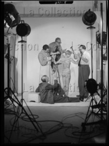 """Lorelle, Lucien. """"Le Boucher"""" Amoureux. Vers 1956 1957. Photographie. Archives Philippe Gallois."""