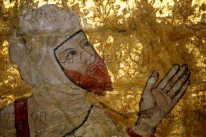 Grenade. Alhambra. Salle des Rois. Souverains de la dynastie des Nasride. 2e Moitié Du XVe siècle. Peinture.