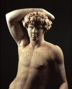 Art Romain. Antinoüs. Détail : buste. IIe siècle. Sculpture. Tripoli (Libye). Musée.