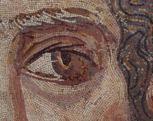 Art Romain. Tête Du Dieu Océan. Détail : Oeil. IIIe Siècle. Mosaïque. Sousse. Musée Archéologique.
