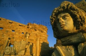 Art Romain. Libye. Leptis Magna. Forum Sévérien. Tête De Méduse. Fin IIe IIIe Siècle. Photographie.