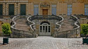 Fontainebleau. Château. L'escalier Du Fer à Cheval. Début XVIIe Siècle. Architecture.