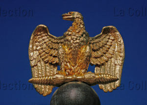 France. Fontainebleau. Château. Cour Des Adieux (cour Du Cheval Blanc). Grille D'honneur. Détail : L'aigle Impériale. 1808. Ferronnerie.