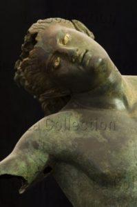 Art Grec. Le Satyre dansant. Détail : visage. IVe Ou IIIe IIe siècle avt JC. Sculpture. Mazara Del Vallo, Museo Del Satiro Danzante.