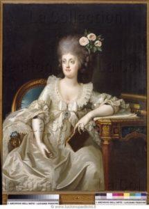 Landini, Camillo. Portrait de Marie Caroline d'Autriche. 1787. Peinture. Naples, Museo Nazionale Di San Martino.