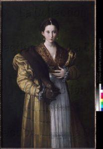 Parmigianino (Parmesan). Antea ou Portrait de jeune femme. 1530 1535. Peinture. Naples, Museo Nazionale Di Capodimonte.
