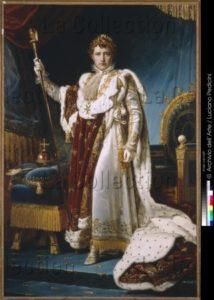 Gérard, François. Napoléon Ier en costume de couronnement. 1810. Peinture. Naples, Museo Nazionale Di Capodimonte.