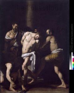 Caravage. La Flagellation du Christ. 1607 1609/1610. Peinture. Naples, Museo Nazionale Di Capodimonte.