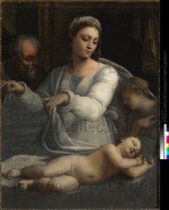 Sebastiano del Piombo. Madonna Del Velo (Madone Au Voile). Vers 1530. Peinture. Naples, Museo Nazionale Di Capodimonte.