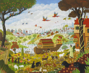 Alain Thomas. L'Arche de Noé. 2009. Peinture. Collection particulière