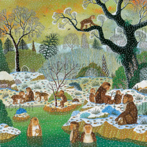Alain Thomas. Macaques du Japon. 1997. Peinture. Collection particulière.