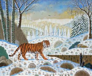 Alain Thomas. Tigre de Sibérie. 1997. Peinture. Collection particulière.