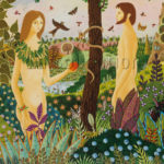 Alain Thomas. Adam et Eve. 1977. Peinture. Collection particulière.