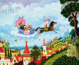 Alain Thomas. L'attelage magique. 1981. Peinture. Collection particulière.