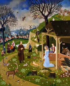 Alain Thomas. Nativité. 1978. Peinture. Collection particulière.