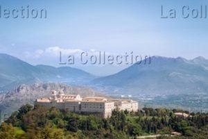 Italie. Abbaye de Montecassino. Vue générale. VIe XXe siècle. Photographie.