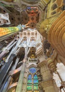Espagne. Barcelone. Sagrada Familia (arch. Antoni Gaudi). Depuis 1882. Photographie d'Igor Todisco.