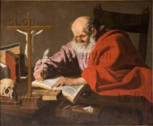 Colombe du Lys, François. Saint Jérôme écrivant. XVIIe Siècle. Peinture. Riva Del Garda, S. Maria Assunta.