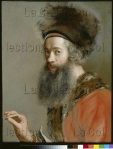 Liotard, Jean Etienne. Autoportrait. Vers 1744 1745. Dessin. Dresde, Gemäldegalerie Alte Meister.