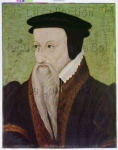 Anonyme. Portrait De Théodore De Bèze, Théologien Français Protestant. 1577. Peinture. Genève, Bibliothèque Publique Et Universitaire.