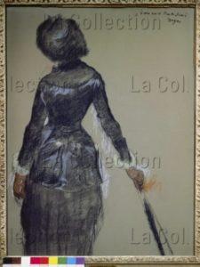 Degas, Edgar. Mary Cassatt Au Louvre. 1880. Dessin. Collection Particulière.