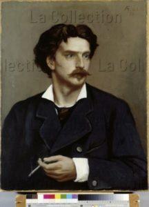 Feuerbach, Anselm. Autoportrait. 1878. Peinture. Hanovre. Niedersächsisches Landesmuseum.