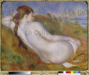 Renoir, Auguste. Jeune Fille Allongée Dans Les Dunes. Fin XIXe Début XXe Siècle. Peinture. Palm Springs, Collection Annenberg.