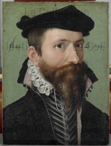 Ring Le Jeune, Ludger Tom. Portrait d'un homme. 1533. Peinture. Hanovre. Niedersächsisches Landesmuseum.