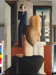 Schlemmer, Oskar. Fünf Figuren Im Raum, Römisches (Cinq Figures Dans L'espace Romain). 1925. Peinture. Bâle, Kunstmuseum.