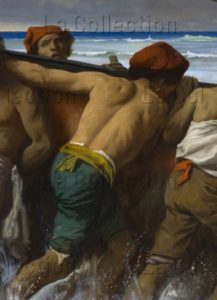 Feuerbach, Anselm. Les Adieux De Médée. Détail : Matelots. 1870. Peinture. Munich, Neue Pinakothek.