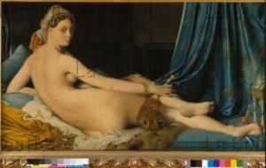 Ingres, Jean Auguste Dominique. La Grande Odalisque. 1814. Peinture. Paris, Musée Du Louvre.