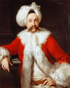 Soldi, Andrea. Portrait D'un Homme Dans Un Costume Oriental. XVIIIe Siècle. Peinture. Collection Particulière.