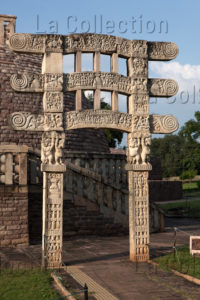 Art indien. Période Sâtavâhana. Sâncî. Stupa III. IIe-Ier siècle avt JC. Sculpture.