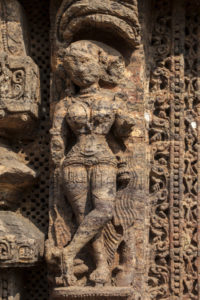 Inde. Konârak. Temple de Sûrya. Milieu XIIIe siècle. Sculpture.