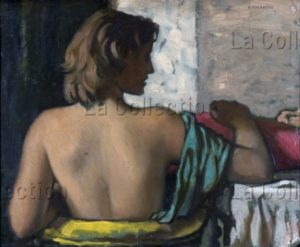 Ram (Ruggero Alfredo Michahelles). Portrait D'une Femme De Dos. 1940. Peinture. Collection Luciano Canepa.