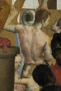 Gamberucci, Cosimo (attribué à). Le Martyre De Saint Barthélemy. Détail : Homme De Dos. XVIIe Siècle. Peinture. Castelfiorentino, Musée De Santa Verdiana.