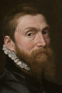 Moro, Antonio (Anthonis Mor Van Dashort). Autoportrait. Détail : Visage. 1558. Peinture. Florence, Musée Des Offices.