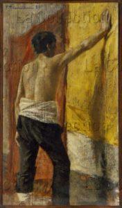Nomellini, Plinio. Modèle Dans L'atelier. 1900. Peinture. Florence. Palais Pitti. Galleria Moderna.