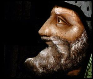 Renaissance. Auch. Cathédrale Ste Marie. Desmoles, Arnaud. Le Prophète Aggée. Détail. Entre 1507 Et 1515. Vitrail.