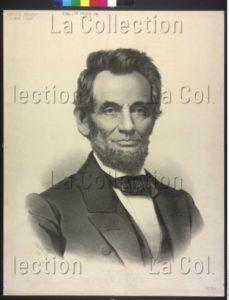 USA. Histoire. Portrait d'Abraham Lincoln. XIXe siècle. Gravure. Vienne, Österreichische Nationalbibliothek.