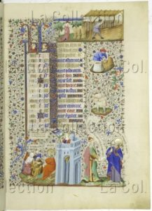 Livre d'heures. Mois d'août. 1422 1424. Miniature. Vienne, Österreichische Nationalbibliothek.