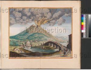 Eruption du Vésuve. 1679. Gravure. Vienne, Österreichische Nationalbibliothek.