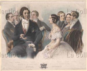 Réception de Louis Philippe à Windsor par la reine Victoria à Windsor. Vers 1844. Gravure. Vienne, Österreichische Nationalbibliothek.