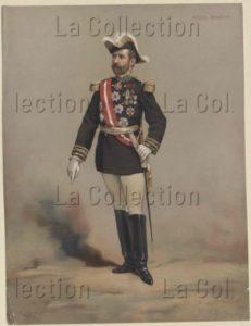 Portrait de Georges Boulanger. XIXe siècle. Gravure. Vienne, Österreichische Nationalbibliothek.