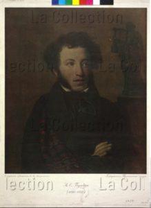 Portrait d'Alexandre Sergueïevitch Pouchkine, écrivain russe. XIXe siècle. Gravure. Vienne, Österreichische Nationalbibliothek.