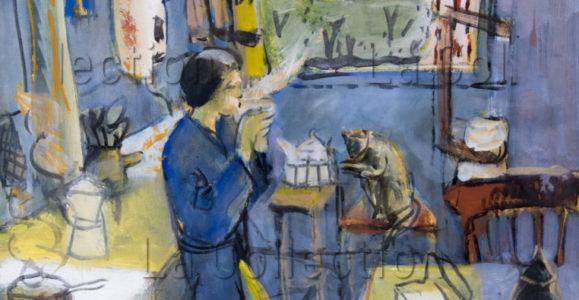 François Jousselin. Dans la cuisine. 1971-1979. Peinture. Collection particulière.