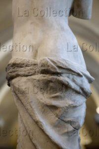 Art Hellénistique. Aphrodite, Dite Vénus De Milo. Détail : Fesses. Vers 100 Avt JC. Sculpture. Paris. Musée Du Louvre.