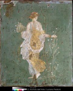 Art Romain. Flore Ou Le Printemps. 1ère Moitié Ier Siècle. Peinture Murale. Naples. Museo Archeologico Nazionale.